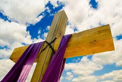 lent cross purple